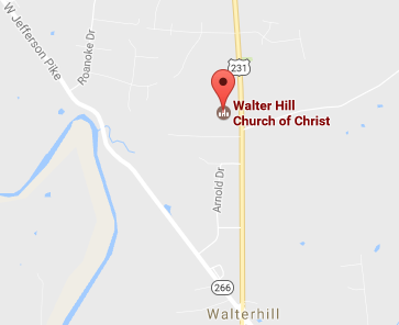 Map to building Walter Hill church of Christ